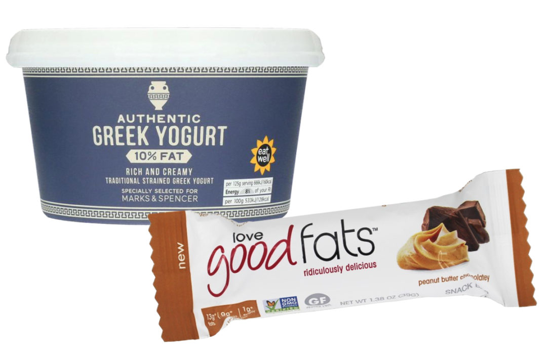 Snacks made with good fats