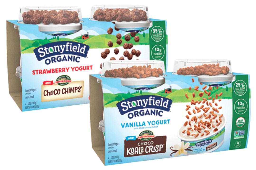 Stonyfield Organic Kids Yogurt with Nature's Path EnviroKidz Cereal Toppers