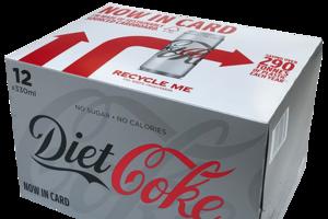 Diet coke 12x330ml sleek fec 02