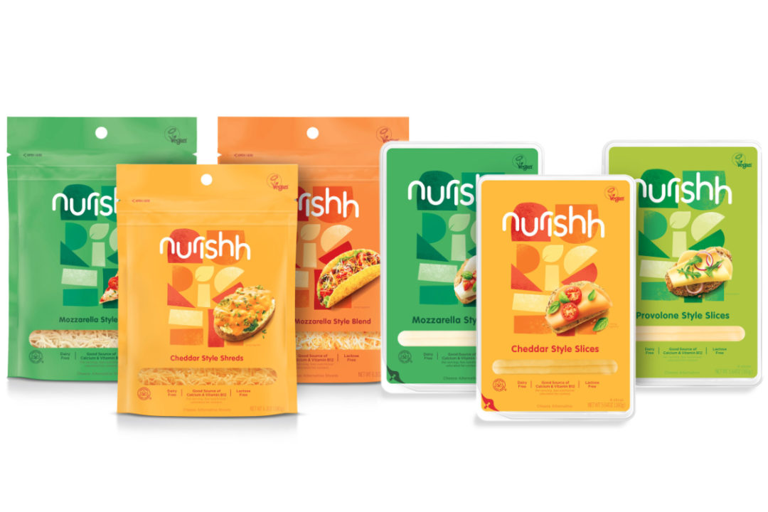 Nurishh plant-based cheeses