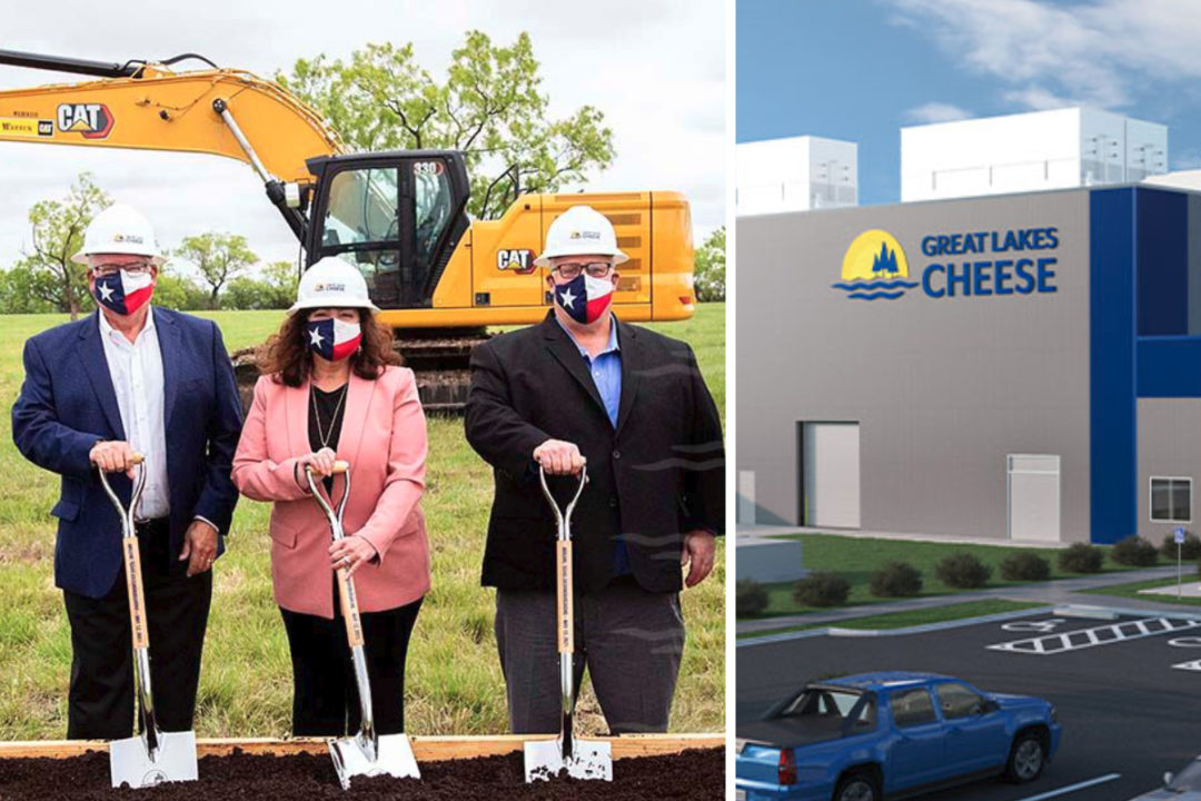 Great Lakes Cheese Co., Inc. Abilene, TX, plant groundbreaking and plant render