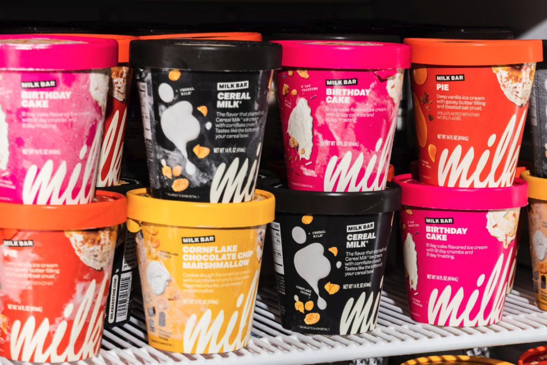 Milk Bar ice cream in grocery stores