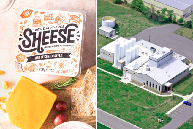 Sheese dairy-free cheese and Wisconsin Specialty Protein's Reedsburg, Wis., facility