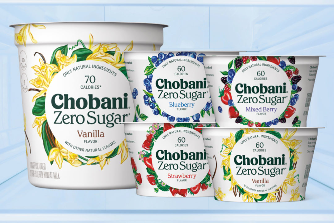 Chobani Zero Sugar yogurt
